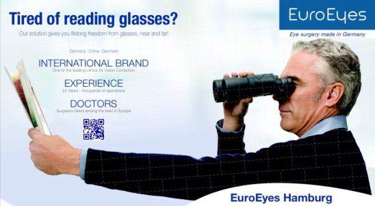 厌倦老花镜或渐进眼镜 老花眼手术一劳永逸(1)